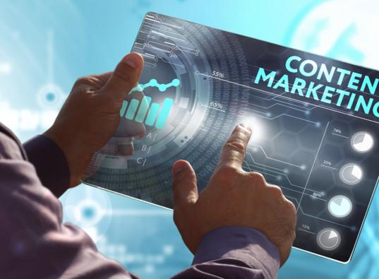 content marketing futuristic image